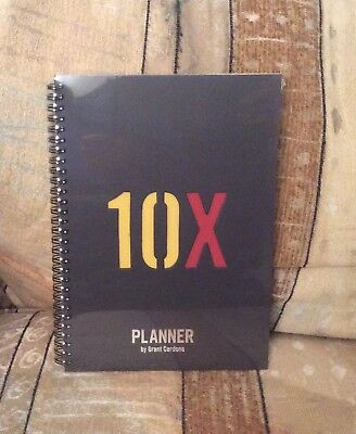 BRAND NEW & SEALED Grant Cardone 10x Daily Planner How 2 Motivate Get Rich Goals