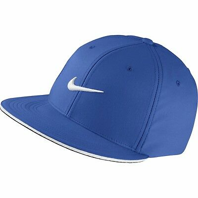 77adaeb21 NIKE GOLF TRUE Statement Game Royal Blue Unisex Fitted Hat L/XL