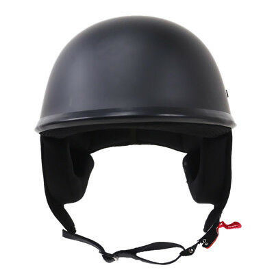 Motorcycle Half Helmet Open Face Cruiser Biker for Harley Flat Matte Black