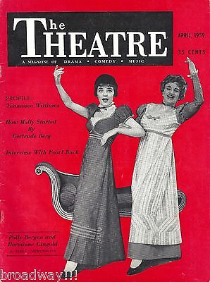 """Polly Bergen """"FIRST IMPRESSIONS"""" Hermione Gingold 1959 """"THEATRE"""" Magazine"""