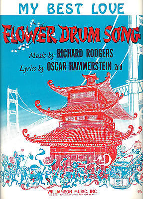 "Rodgers & Hammerstein ""FLOWER DRUM SONG"" Cut Song 1958 Tryout Sheet Music"