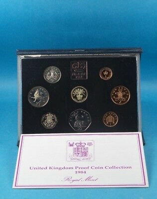1984 United Kingdom Official Proof Coin Collection  Cased