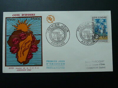 technical cooperation in Africa CCTA FDC Ivory Coast 1962 (2)