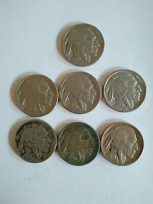 Lot monnaies USA 5 cents indien