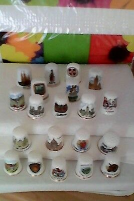 TOPOGRAPHICAL THIMBLES MIXED LOT x 20