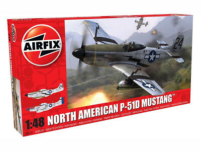 Airfix North American P51-D Mustang 1:48 Plastic Model Kit - A05131