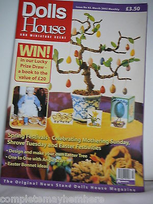 Dolls House and Miniature Scene Issue No 93 March 2002- Spring Festivals
