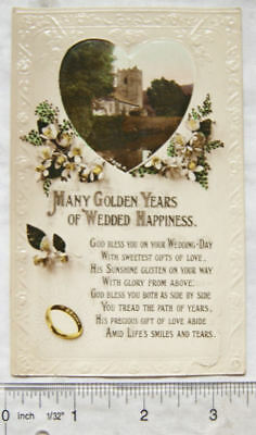 vintage postcard Many Golden Years Of Wedded Happiness