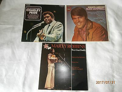 Glen Campbell - Marty Robbins - Charley Pride LPs