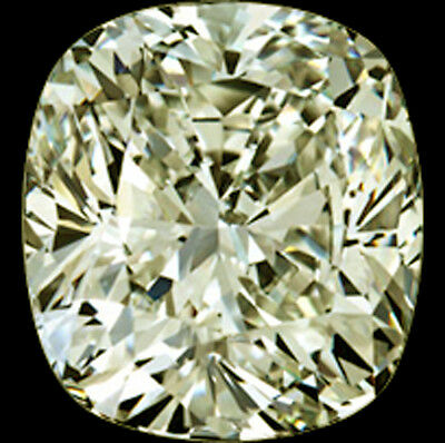 2.31ct (vvs1)OFF WHITE YELLOW LOOSE CUSHION REAL MOISSANITE FOR RING/PENDANT