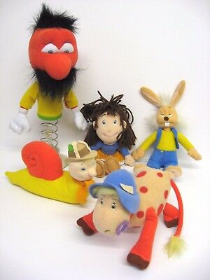 THE MAGIC ROUNDABOUT SOFT TOY SET / Zebedee Ermintrude Dylan Florence Brian