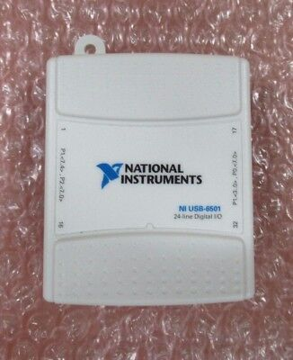 National instruments 24 Line Digital I/O NI USB-6501 + Connector Blocks & In Box