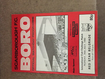 Scarborough v Red Star Belgrade 30/7/90 Friendly