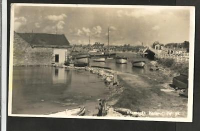 JHH Early Merwood Postcard, Yarmouth Harbour, Isle of Wight # 93