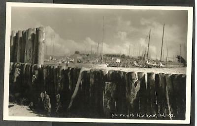 JHJ Early Merwood Postcard, Yarmouth Harbour, Isle of Wight # 102