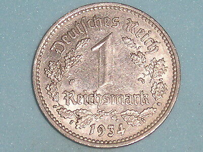 Germany 1 Reichsmark Nickle Issue 1934,a  (130