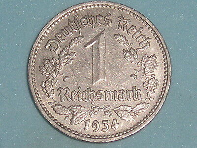Germany 1 Reichsmark Nickle Issue 1934,d  (134