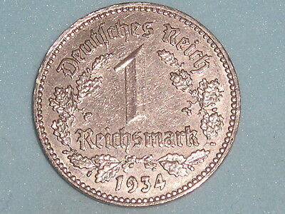 Germany 1 Reichsmark Nickle Issue 1934,j  (132