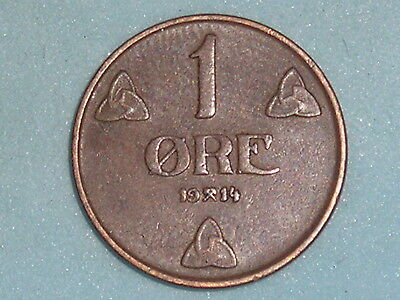 Norway / Norge 1 Ore 1914  (119