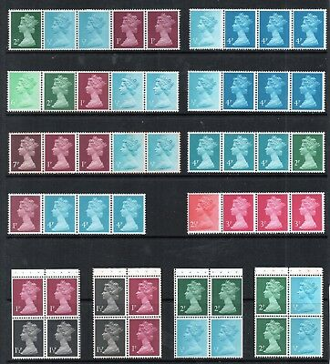 GB QEII Decimal MACHIN Defin STAMPS COILS & BOOKLET PANES Collection REF:QG625a