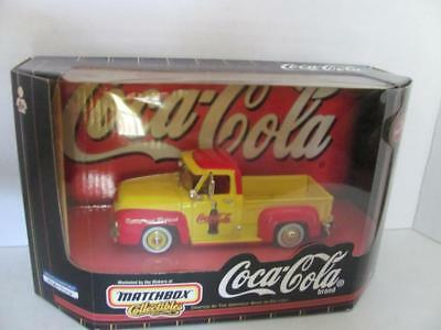 Vintage 1998 Coca Cola Matchbox Collectibles Die-Cast 1955 Ford Pickup