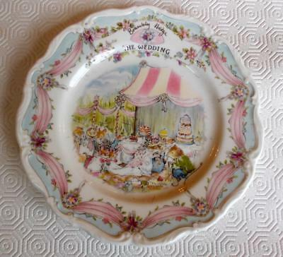 Vintage Royal Doulton Brambly Hedge The Wedding Plate 8In Plate