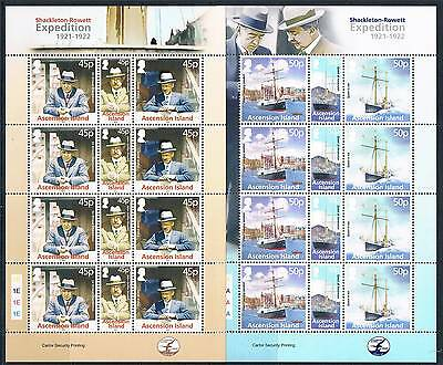 Ascension Is 2012 Shackleton Rowett complete sheets MNH