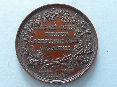 Benjamin Franklin Medal Uniface Copper Dated 1786 ? By Dupre  45Mm  (366