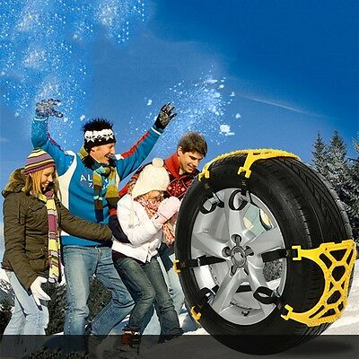 Car Tire Snow Mud Slpoe Non-slipping Chains Tire Emergency Thickening Anti--Skid
