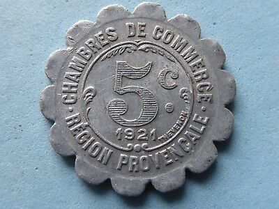 France Chamber Of Commerce Token 5 Cents 1921  (465