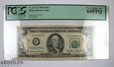 1985 $100 Federal Reserve Note, Very Choice New PCGS 64PPQ