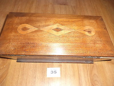Vintage Wooden Box Sarcophagus Shaped