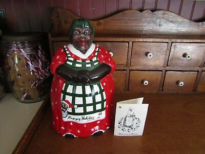 Thelma Christmas Cookie Jar-Memories Of Mama-Signed-Treasures From The Heart
