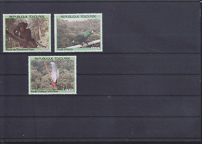 055059 Vögel Birds ... Togo 2188-90 ** MNH Year 1991