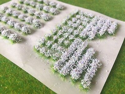 Mixed White Garden Flowers Static Grass Tufts 4mm Model Scenery Railway Wargames