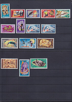 055091 Vögel Birds ... Nigeria 175-88 ** MNH Year 1965-72