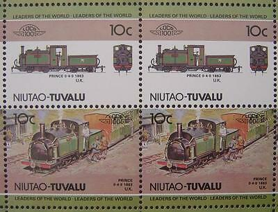 1863 Ffestiniog Railway PRINCE 0-4-0T Train 50-Stamp Sheet Leaders of the World