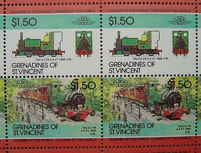 1865 TALYLLYN RAILWAY Wales 0-4-2T Train 50-Stamp Sheet (Leaders of the World)