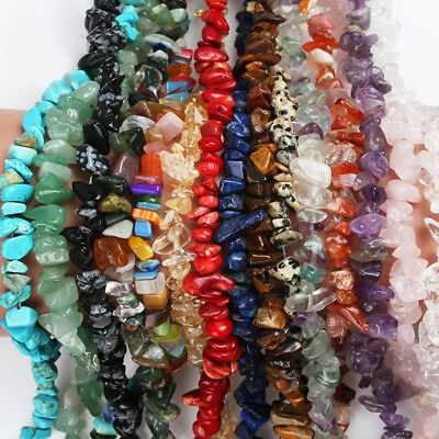 15''/Strand Freeform Natural Stone Chips Gemstone Beads Jewelry Making Wholesale