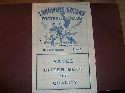 TRANMERE ROVERS Reserves v Buxton 1953/4