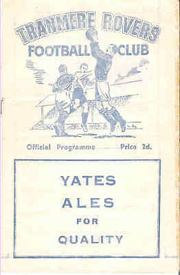 TRANMERE ROVERS v  HARTLEPOOLS UNITED 1954/5