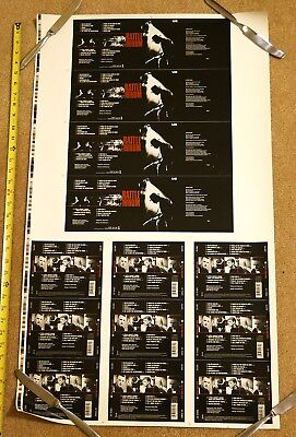 "U2 1988 ""Rattle & Hum"" cd UNCUT PRINTER PROOF SHEET poster"