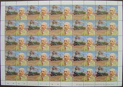 1907 LODE STAR & G.J.Churchward Train 50-Stamp Sheet (GWR 150th Anniversary)