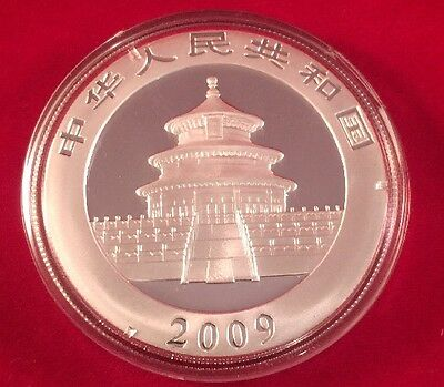 2009 China Panda UNC One Ounce Silver Coin