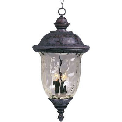 Maxim 3427WGOB Carriage House DC 3 Light Outdoor Lantern Pendant