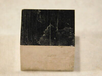 A Small Perfectly Square 100% Natural PYRITE Crystal Cube From Spain! 25.4gr