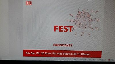 deutsche bahn db festpreis ticket 1 klasse mit sitzplatz f r 25 gutschein eur 33 99. Black Bedroom Furniture Sets. Home Design Ideas