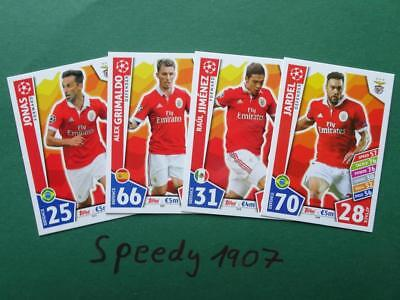 Topps Match Attax 2017 2018 Champions League all 18 Benfica complete 17 18