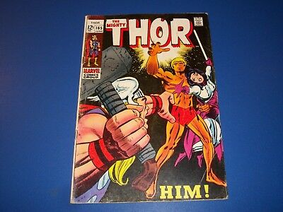 The Mighty Thor #165 Silver Age 1st Warlock/Him Story Huge Key