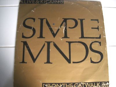 Simple Minds Alive and Kicking Vinyl ltd Edition Gold 1985 12""